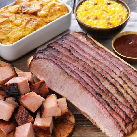 Jack Stack Ham Burnt End and Beef Brisket Combo Meal