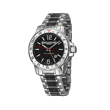 Raymond Weil Men S Nabucco Stainless Steel And Black Carbon Fiber