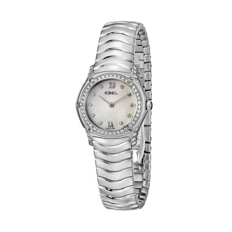 Ebel Women's Classic Wave Stainless Steel Case and Bracelet Diamond Quartz Watch