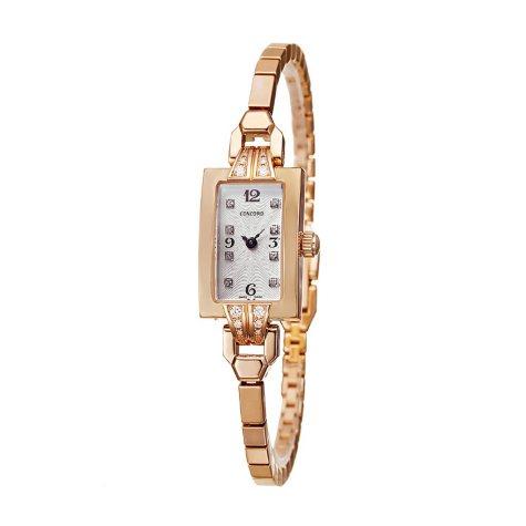 Concord Women's Soiree 18K Rose Gold Case and Bracelet Diamond Quartz Watch