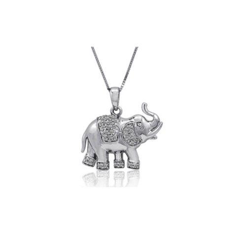 0.15 ct. t.w. Diamond Elephant Pendant (H-I, I1)