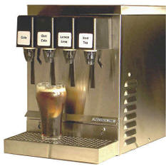 4-Flavor Refrigerated Soda Dispenser - Stainless Steel