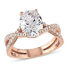 2.39 CT. T.W. Infinity Split Shank Diamond Engagement Ring in 18K Rose Gold (G, SI1)