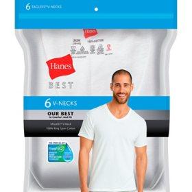 Hanes Best 6-Pack V-Neck T-shirt (Assorted Colors)