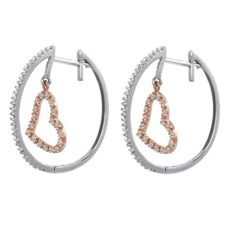 0.33 ct. t.w. Diamond Sweetheart Earrings in 14k Two-Tone Gold (H-I, I1)