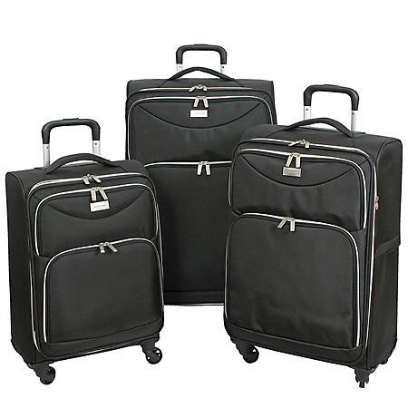 Geoffrey Beene Midnight Collection Ultra Lightweight 3-Piece Luggage Set