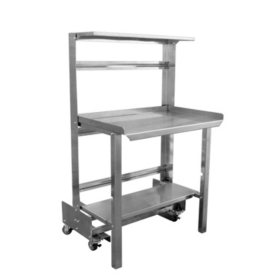 "48"" Mobile Roll-Away Retractable Prep Station"