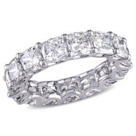 Allura 7.75 CT. T.W. Cushion-Cut Diamond Eternity Wedding Ring in 18k White Gold