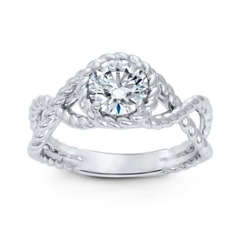 1.00 ct. Round Brilliant Lab-Grown Diamond Solitaire Ring in 14K White Gold (H, VVS2)