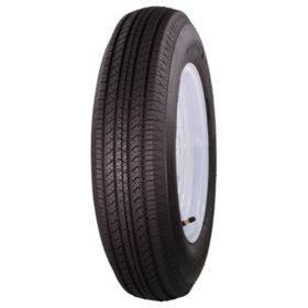 Greenball Tow-Master Trailer Tire & White Spoke Wheel (Various Options)