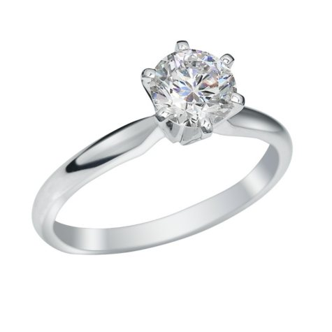 1.25 CT. Round Brilliant Lab-Grown Diamond Solitaire Engagement Ring in 18K White Gold w/ Platinum Prongs (I, VS2)