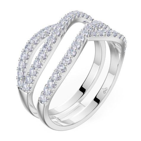 .64 CT. T.W. Tango Diamond Ring in 14K White Gold