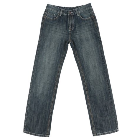 Boy's Designer Brand Distressed Boot Cut Denim Jean