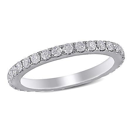 Allura 0.95 ct. t.w. Diamond Eternity Anniversary Ring in 14k White Gold