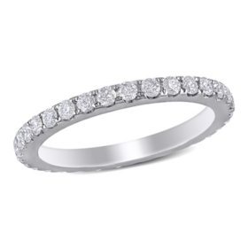 Allura 0.95 ct. t.w. Diamond Eternity Anniversary Ring in 14k White Gold
