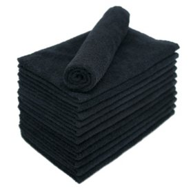 Bleachsafe Salon Hand Towels, Black (24 pack)