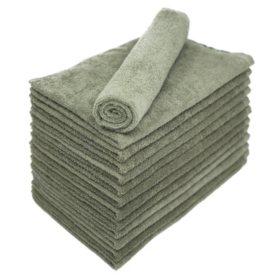 Bleachsafe Salon Hand Towels - Green - 24 pk.