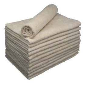 Bleachsafe Salon Hand Towels, Tan (24 pack)