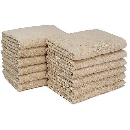 """Bleachsafe 13""""x13"""" Wash Cloths, Tan (24 pack)"""