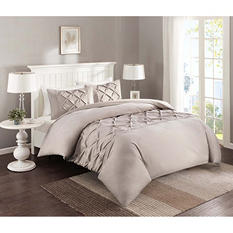Pintuck 4-Piece Comforter Set