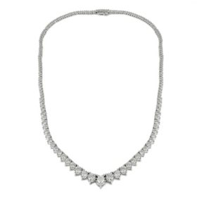 4.95 CT. T.W. Diamond Miracle Plate Necklace in 14K White Gold
