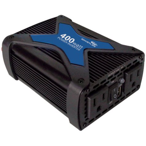 Whistler Pro-400W-C Power Inverter includes 6' Battery Cables w/Clamps
