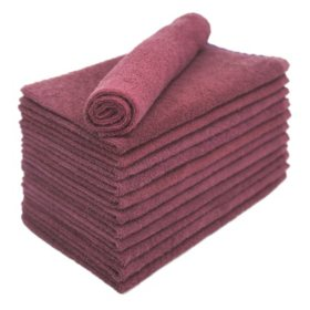 Bleachsafe® Salon Hand Towels - Wine - 24 pk.
