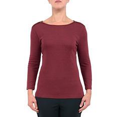 ABS Women's Zip-Shoulder Top