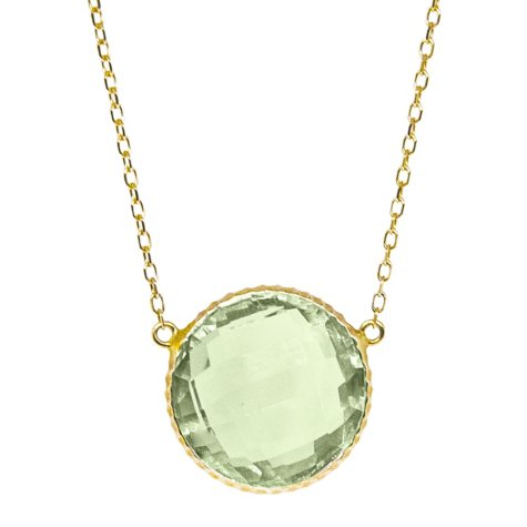 12 CT. T.W. Prasiolite Pendant in 14K Yellow Gold