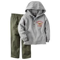Carters Boy's 2 Piece Playwear Set - Grey/Green
