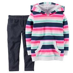 Carters Girl's 2 Piece Playwear Set - Hoodie/Denim