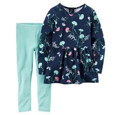 Carters Girl's 2 Piece Playwear Set - Navy/Mint