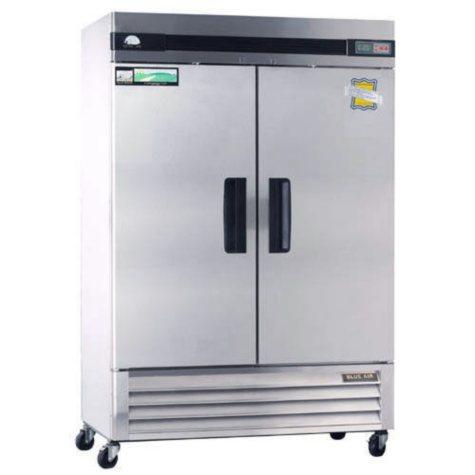 BlueAir 2-Door Stainless Steel Reach-In Refrigerator - 49 cu. ft.