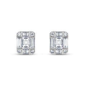 .40 CT. T.W. Diamond Earrings in 14K White Gold