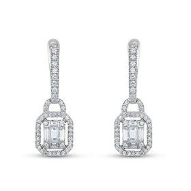 baf461aa4 0.85 CT. T.W. Diamond Pendant & Earring Set in 14K White Gold ...
