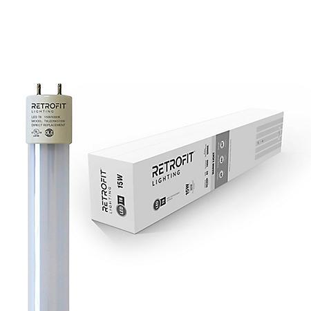 "Retrofit 48"" T8 LED Lightbulbs 18 Watt 5000K Bright Color - 20 Pack"