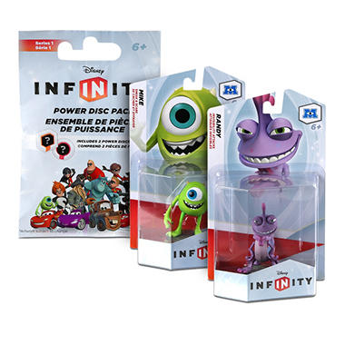 Disney Infinity Bundle of 2 Figures and Bonus Power Disc Pack - Monster Inc.
