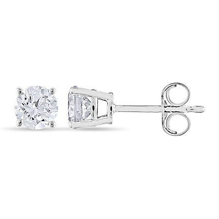 0.70 CT. T.W. Round Diamond Stud Earrings in 14K Gold (I, I1)