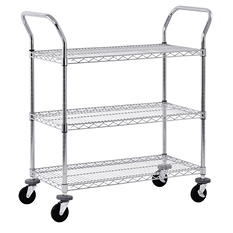 Sandusky 3-Tier Chrome Wire Cart
