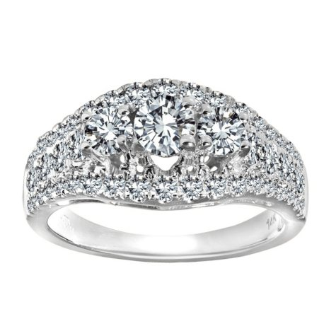 2.00 ct. t.w. Diamond Anniversary Ring in 14k White Gold (I, I1)