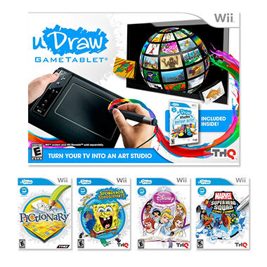 Wii uDraw Game Tablet with uDraw Studio and 1 uDraw Game (You Choose)