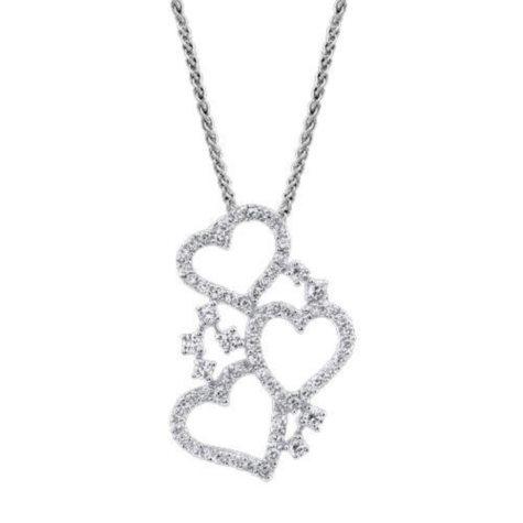 .80 ct. t.w. Diamond 3-Heart Pendant (I, I1)