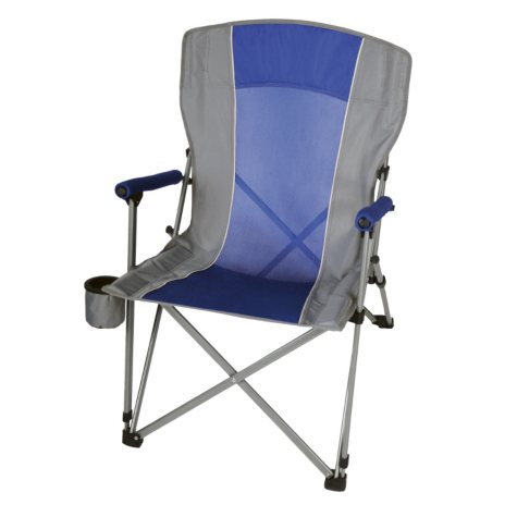 CampSmart® Hard Arm Chair - Blue and Gray