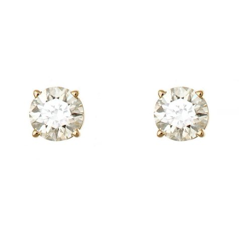 0.23 CT.T.W. Round-Cut Diamond Stud Earrings in 14K Yellow Gold (I, I1)