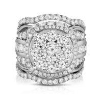 4.95 CT. T.W. Single Center Engagement Ring in 14K White Gold