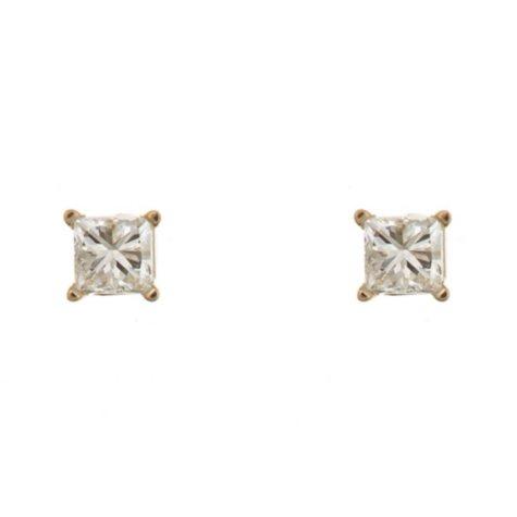 0.23 CT.T.W. Princess-Cut Diamond Stud Earrings in 14K Yellow Gold (I, I1)