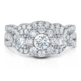 1.96 CT. TW. Diamond Wedding Ring Set in 14K Gold (I, I1)