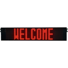 Outdoor Signs America Single Sided LED Electronic Message Sign For Outdoor Use - 1 ft x 5'3 ft