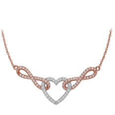 0.25 ct. t.w. Diamond Heart Necklace in Sterling Silver (IGI Appraisal Value: $255.00)
