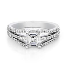 Premier Diamond Collection 1.49 CT. T.W. Emerald Diamond Engagement Ring in 18K White Gold - GIA & IGI (D, VS2)